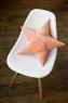 Подушка звезда Peach Velvet персиковая